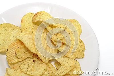 Chips auf einer Platte