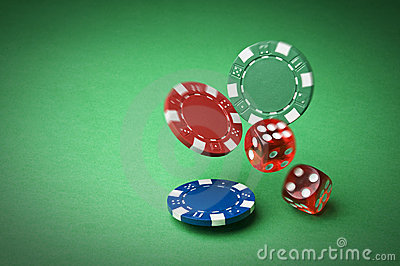 Chips And Dices Royalty Free Stock Photography - Image: 22528827