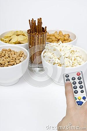 Free Chips Peanuts Popcorn Salted Sticks Stock Image - 4799951