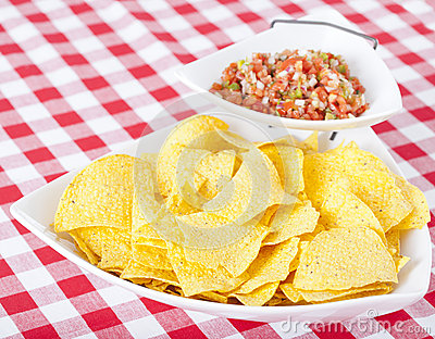 Chips and Pico De Gallo Salsa