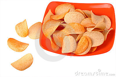Chips on plate