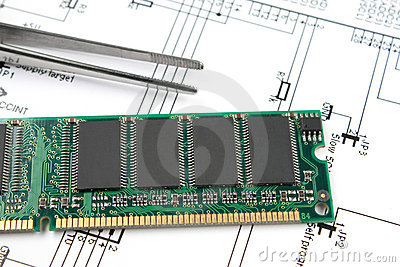 Chips on printed circuit board