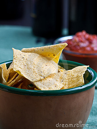 Chips and Salsa Snack