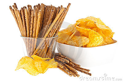 Chips and Saltsticks (with clipping path)
