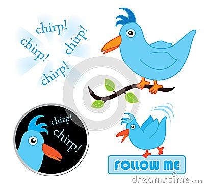 Chirping twitter birds