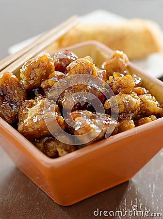 Chiński jedzenie - ogólny tso kurczak