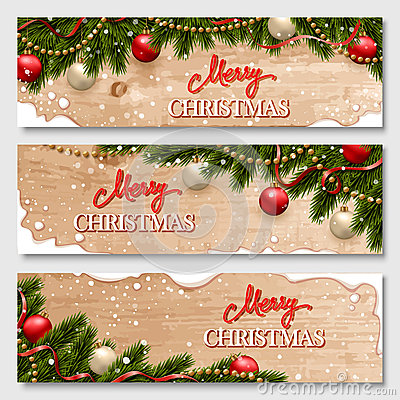Free Chistmas Banners Set Royalty Free Stock Images - 63798039