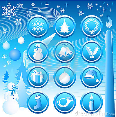 Free Chistmas Icons Set Stock Images - 1235814