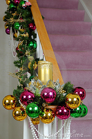 Free Chistmas Staircase Royalty Free Stock Photography - 12039977