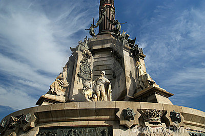 Chistopher Columbus monument in Barcelona