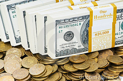 Chiuda in su dei dollari