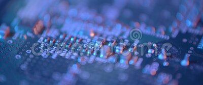 Chiusura del circuito elettronico Macro integrata, comunicazione stock footage