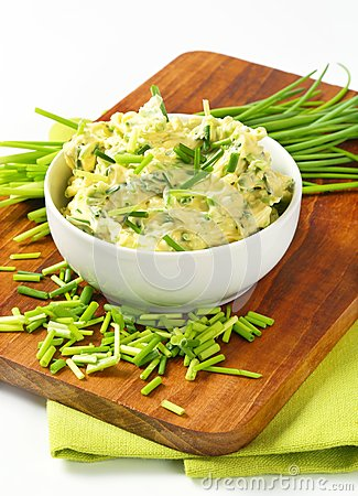 Free Chive Butter Royalty Free Stock Photography - 38618817