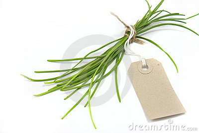 Chives and label