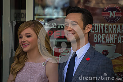 Chloe Moretz and John Blake at the Hollywood Walk of Fame Cerem Editorial Stock Photo