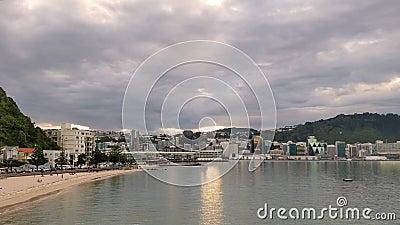 Chmury Nad orientał zatoką, Wellington Nowa Zelandia zdjęcie wideo