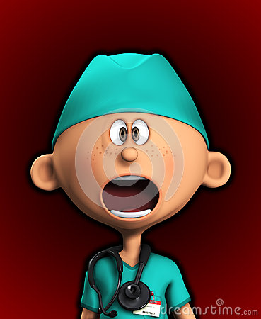 Chockad kirurg