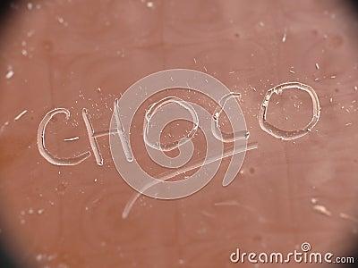 Choco on chocolate