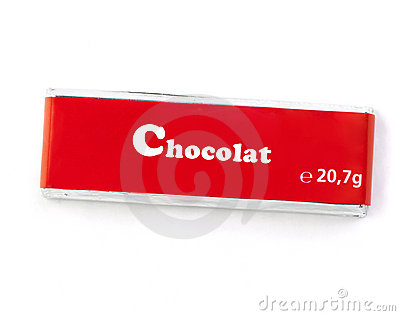 Chocolat Bar  With Clipping Path