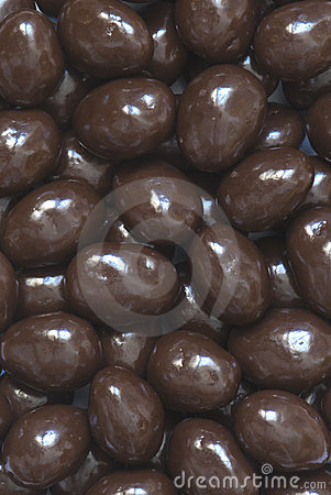 Chocolate almonds background
