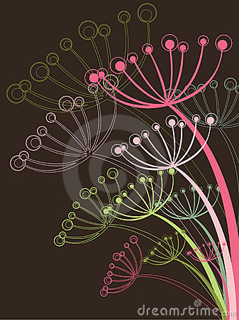 Free Chocolate And Pink Dandelion Royalty Free Stock Photography - 4992897