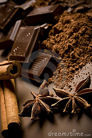 Free Chocolate And Spices Royalty Free Stock Image - 11584046