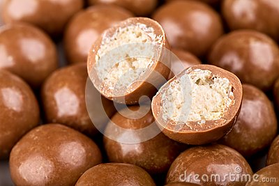 Chocolate balls and halves