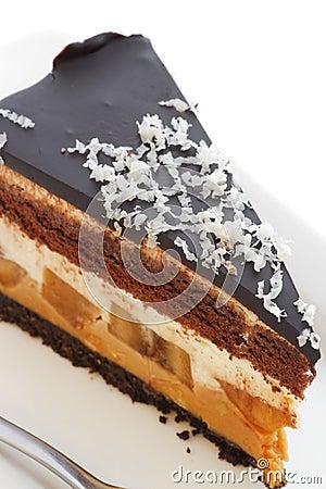 Chocolate banana cheesecake