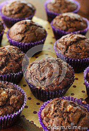 Free Chocolate Banana Muffin Stock Photo - 26368880