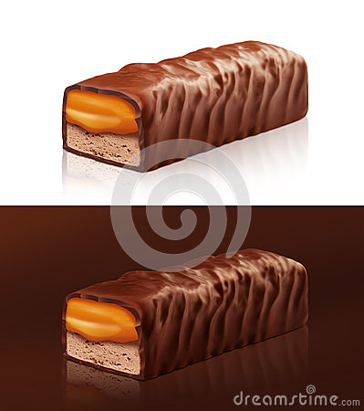 Chocolate bar with clipping path Cartoon Illustration