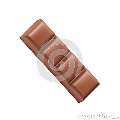 Free Chocolate Bar Four Pieces Vector Stock Photo - 54646830
