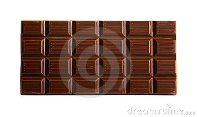 Chocolate bar with path
