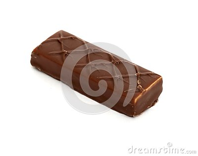 Chocolate bar on white