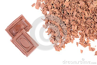 Chocolate bars and shavings.