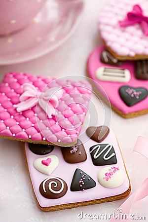 Free Chocolate Box Cookies Royalty Free Stock Image - 28792636