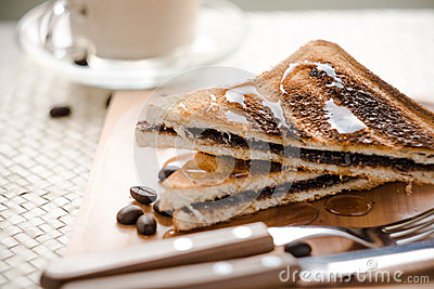 Chocolate bread sandwich