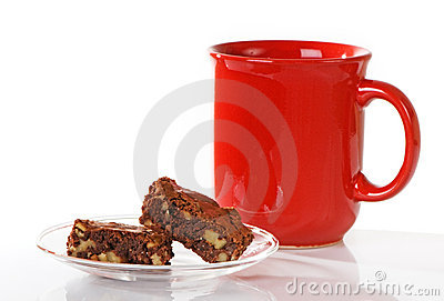 Chocolate Brownies With Coffee