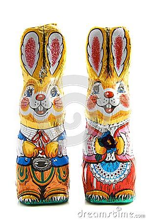 Free Chocolate Bunnies Royalty Free Stock Photos - 13203018