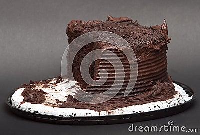 Chocolate Cake On A Doily