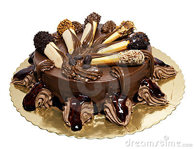 Chocolate cake with lady-fingers