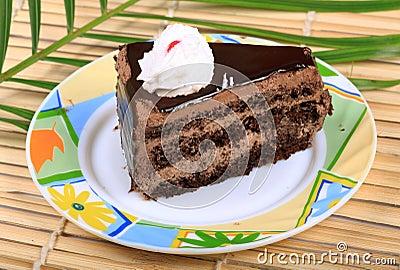 Chocolate cake piece