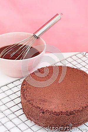 Free Chocolate Cake Preparation. Stock Photos - 33548523