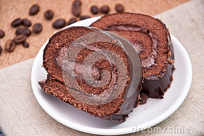 Chocolate cake-roll