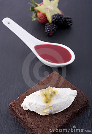 Chocolate Cake and Sauce