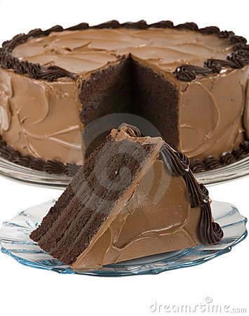 Chocolate Cake with slice