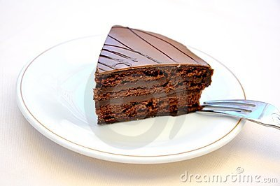 Chocolate cake temptation concept .confort food