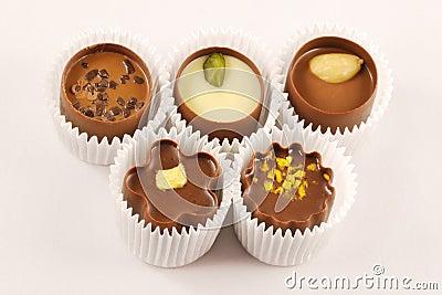 Chocolate candy assortment