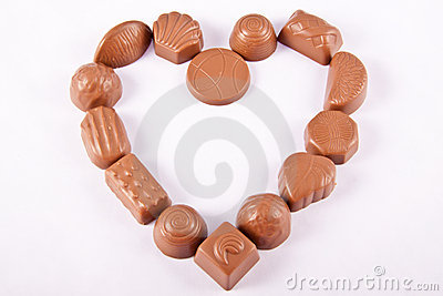 Chocolate Candy in Heart Shape