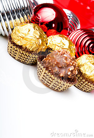Chocolate candy treats Christmas New Year theme