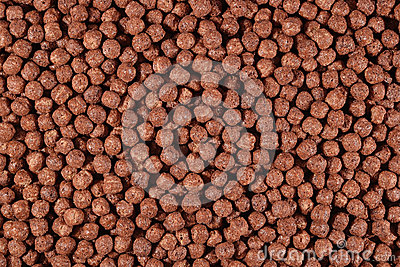 Chocolate cereal balls Stock Photo